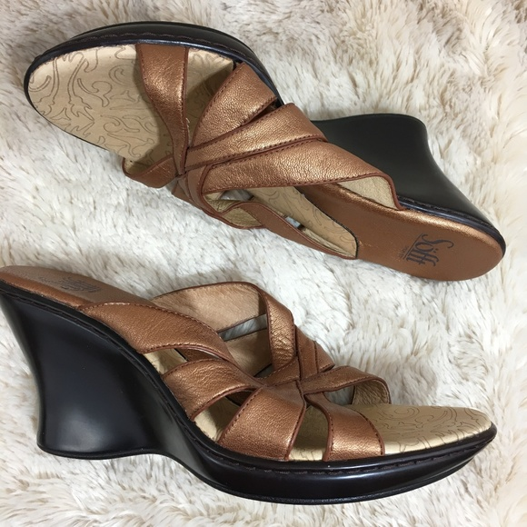 2ce872f473 Sofft copper slip on wedge sandal heel 8. M_5a628f8d31a376101773791e